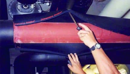 Данный трубопровод холодной воды был защищен Armaflex в течение 20 лет – на фотографии показан профилактический осмотр исходной системы