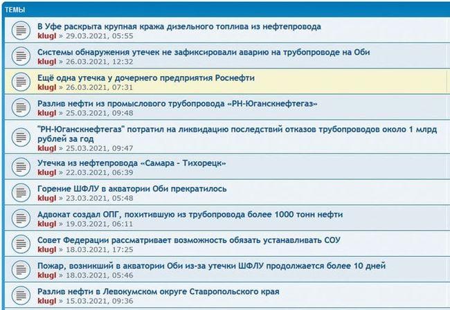 Новости за март 2021 c сайта prosou.ru