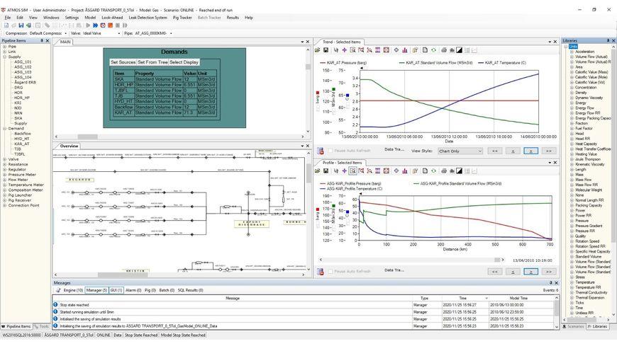 Рабочий графический интерфейс Atmos Sim (доступен в том числе и на русском языке)