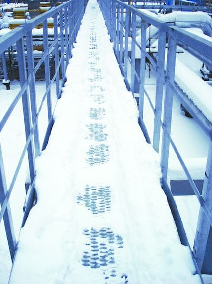 Состояние ходового мостика из просечно-вытяжного листа