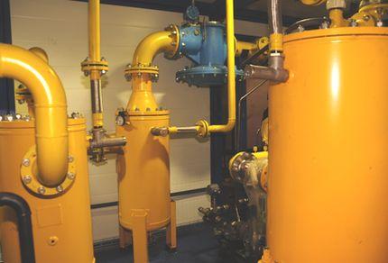 Внутри газовой станции