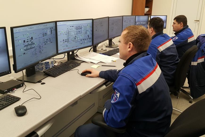Компьютерный тренажерный комплекс на терминале ООО «Криогаз-Высоцк» для обучения операторов-технологов