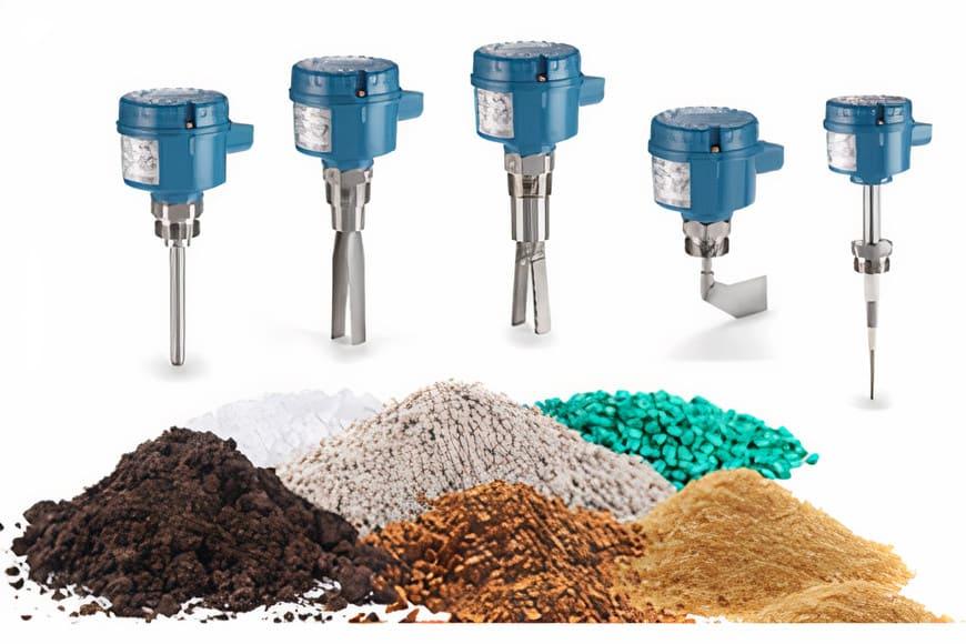 Контроль уровня сыпучих материалов в пищевой, сельскохозяйственной, химической, энергетической, горнодобывающей отраслях, а также в производстве цемента