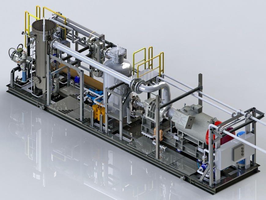 Макет компоновки КУ с входным фильтромскруббером (установки функционируют в составе ГТЭС Южно-Нюрымского месторождения)