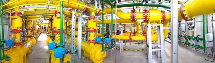 Технологические отсеки многоблочной установки газоподготовки для Прегольской ТЭС