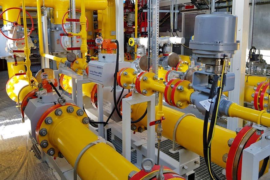 Измерительные линии узла коммерческого учета газа