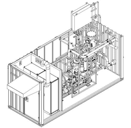Макет компоновки блочномодульной МГКУ в собственном укрытии