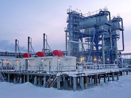 Варандейское месторождение (ЛУКОЙЛ-Коми). Установка подготовки нефти и компрессорная станция низкого давления «ЭНЕРГАЗ»
