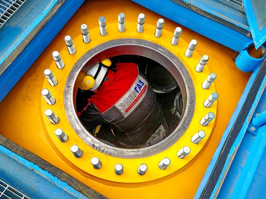 ДКС топливного газа Грозненской ТЭС. Замена фильтрующих элементов сепаратора 1-й ступени очистки