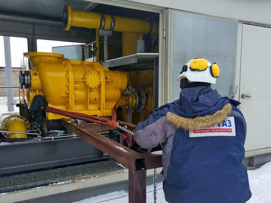 Демонтаж оборудования газоподготовки в ходе ремонтных работ на ПГУ-225 Сызранской ТЭЦ