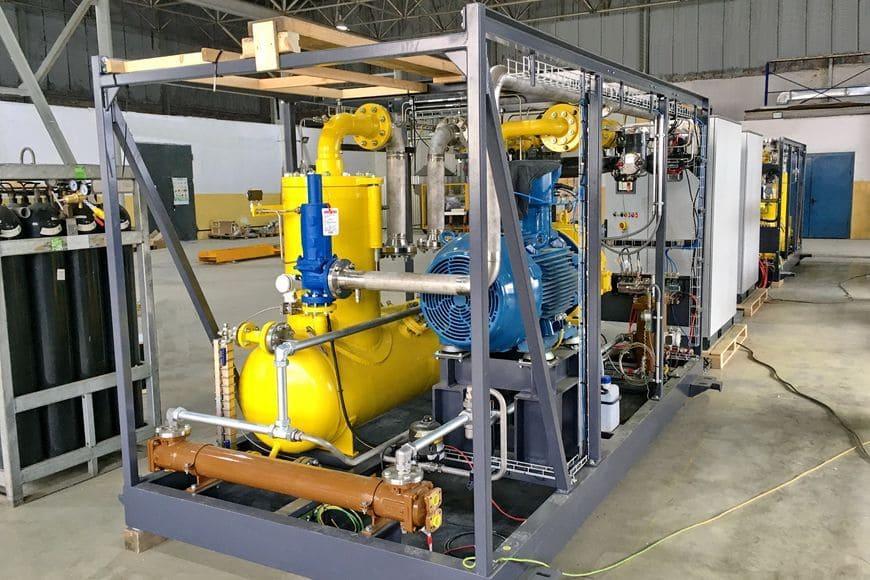 Установка рекуперации отпарного газа для КСПГ «Тобольск» на этапе заводских испытаний