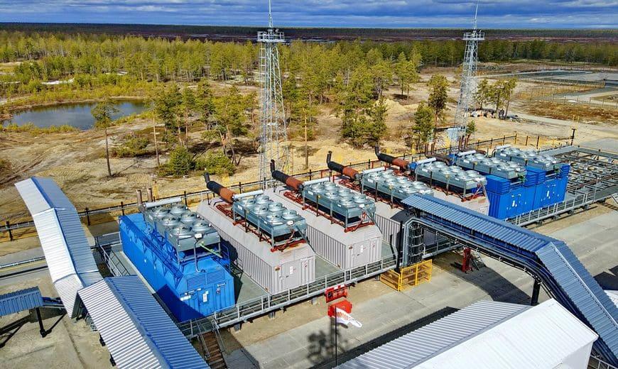 Газопоршневая электростанция Барсуковского месторождения работает на попутном газе