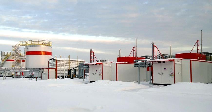 Система газоподготовки и газоснабжения для газотурбинного энергоцентра «Ярега»