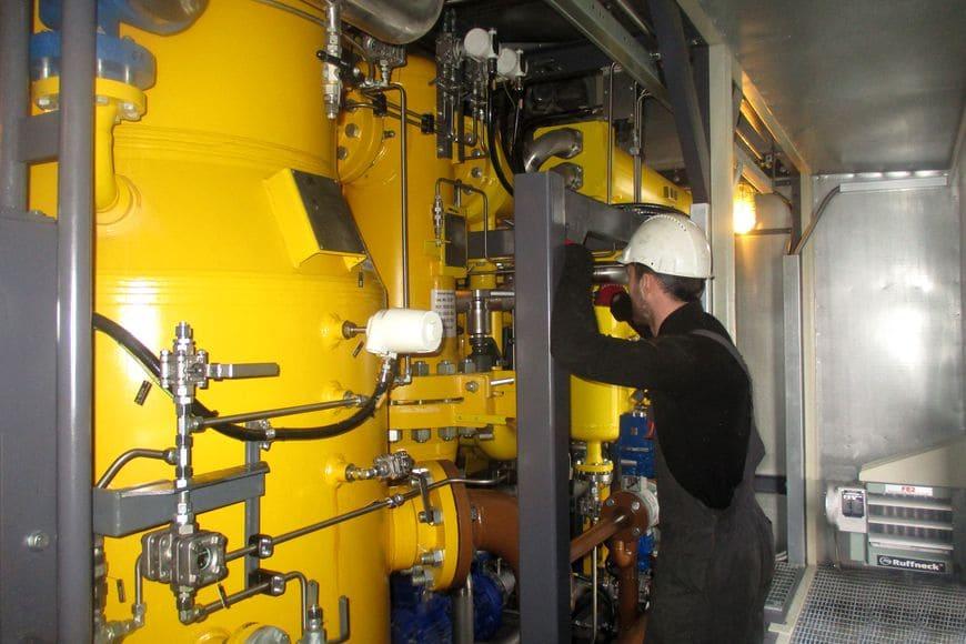 Арктическое исполнение установок обеспечивает пространство для комфортного сервисного обслуживания
