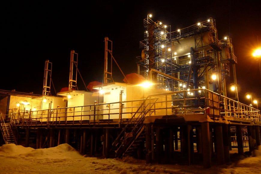 Компрессорная станция низкого давления «ЭНЕРГАЗ» надежно работает в условиях Заполярья (Варандейское месторождение в Ненецком АО)