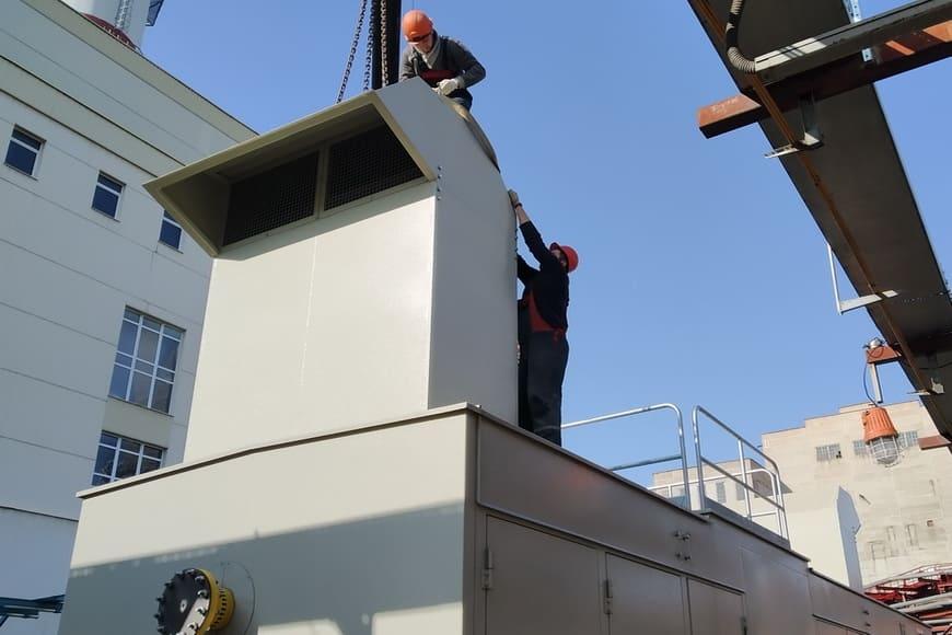На ПГУ-230 Минской ТЭЦ-3 установлена новая компрессорная станция топливного газа