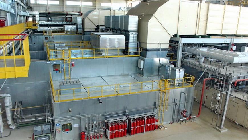 Машинный зал газотурбинных установок Alstom
