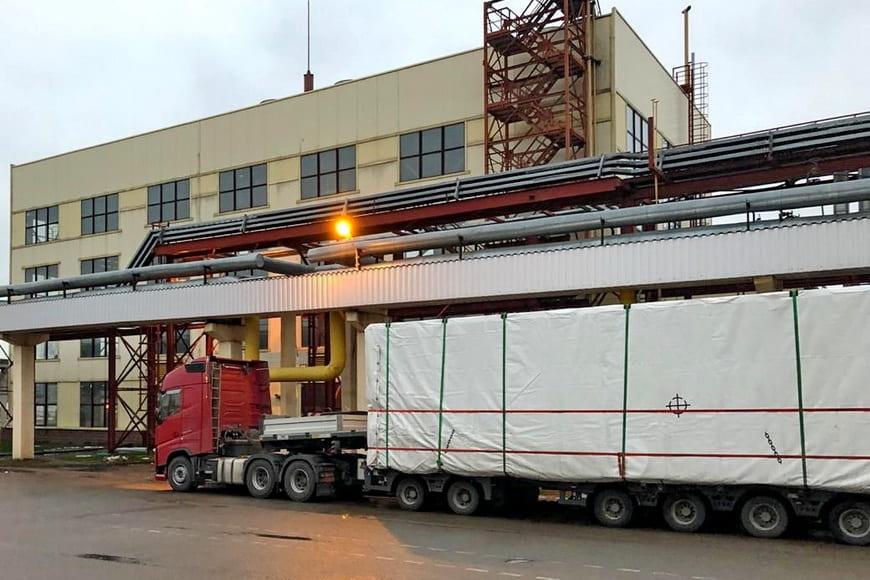 Новая газокомпрессорная станция для ПГУ Минской ТЭЦ-2 доставлена на эксплуатационную площадку