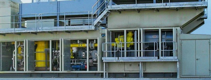 Двухступенчатая компрессорная установка №1 в составе ДКС