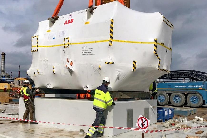 Первая турбина Siemens поставлена для пиково-резервной электростанции Новополоцкой ТЭЦ