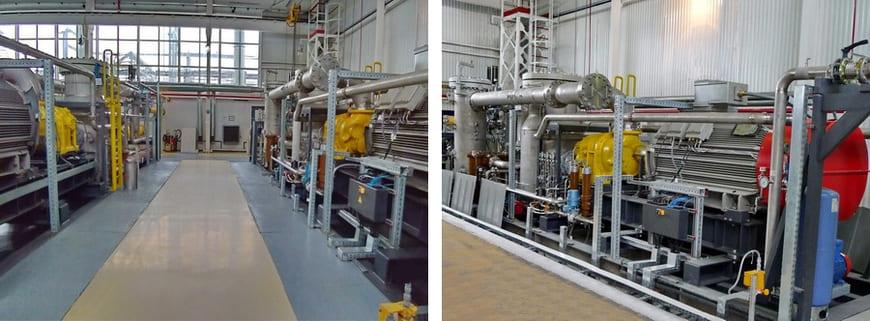 Компрессорные установки в составе ДКС попутного газа