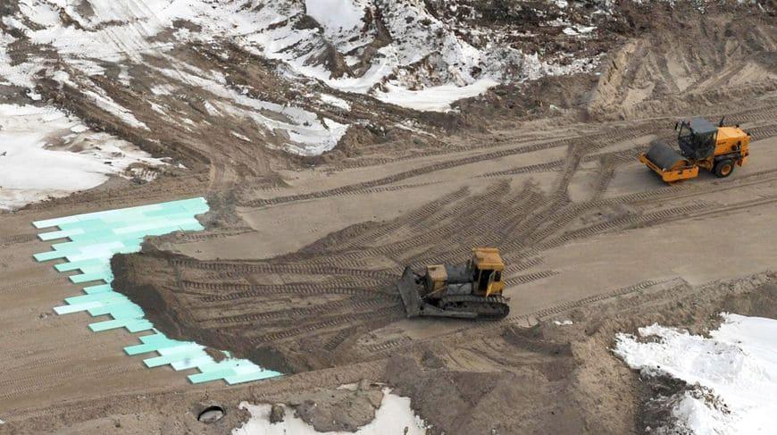 Строительство и теплоизоляция дорожного полотна федеральной трассы Надым-Салехард при помощи плит «Экстрол»