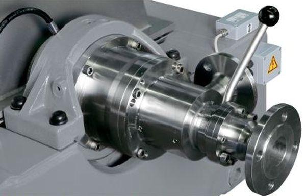 Устройства загрузки и разгрузки с рычагом управления для регулируемого импеллера Трикантера (Tricanter®) Flottweg