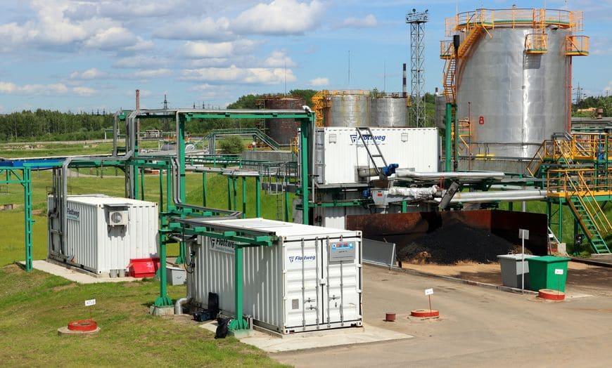 Комплексные контейнерные установки для переработки нефтешлама