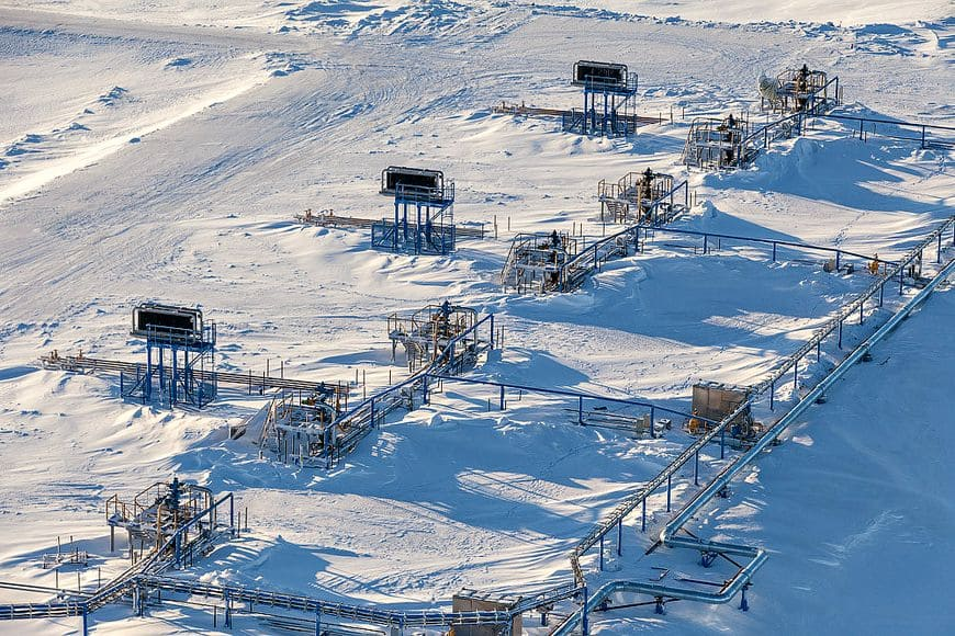 Площадки кустов газовых скважин с системами температурной стабилизации грунтов «ВЕТ». Бованенковское НГКМ