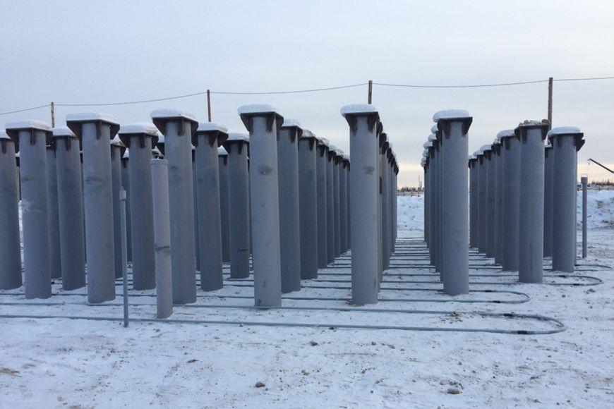 Охлаждающая система «ГЕТ» в основании строящегося сооружения