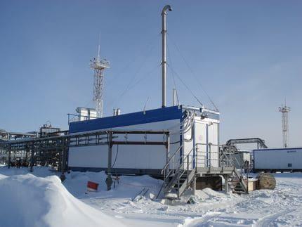 компрессорная станция для сбора попутного нефтяного газа на Восточно-Таркосалинском месторождении ОАО «НОВАТЭК»