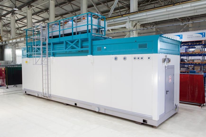 Дожимная компрессорная станция ГЕА в контейнерном исполнении