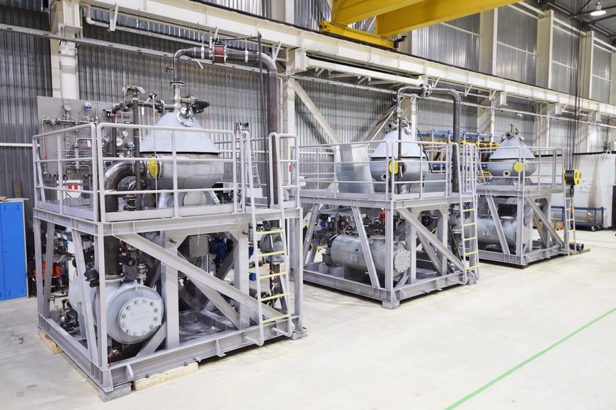 Установки на базе сепараторов ГЕА, производственная площадка, г. Климовск