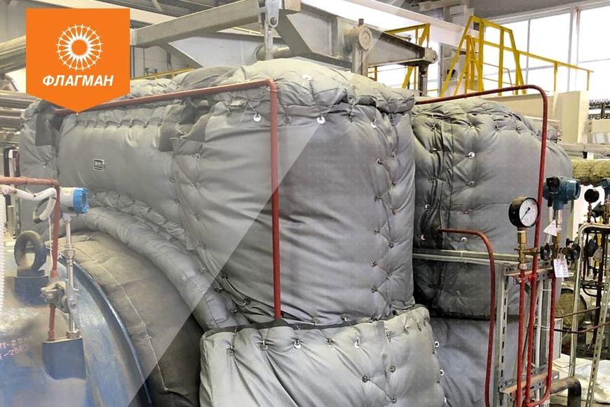 Компания «ФЛАГМАН» реализовала очередную заявку на быстросъемную теплоизоляцию iSHELL для паровой турбины.