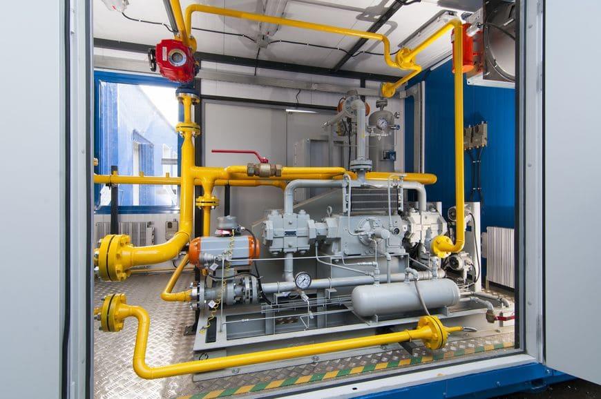 Дожимная компрессорная установка буферного газа серии БКС НПК «Грасис»