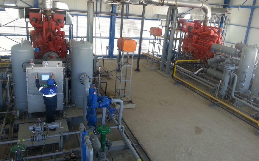 Газокомпрессорная установка с газовым приводом