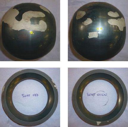 Потеря покрытия на шаре и седле шарового крана