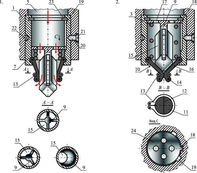 Схема работы обратного клапана и варианты выполнения запорного органа