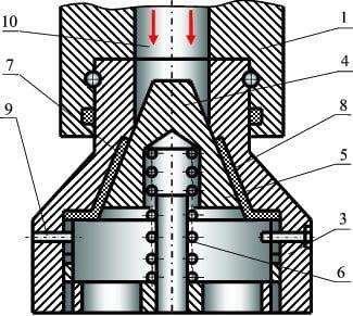 Принципиальная схема обратного клапана