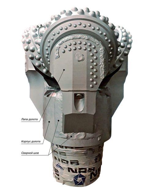 Долото шарошечное корпусного типа диаметром 393,7 мм производства «NRB - New Rock Bits»