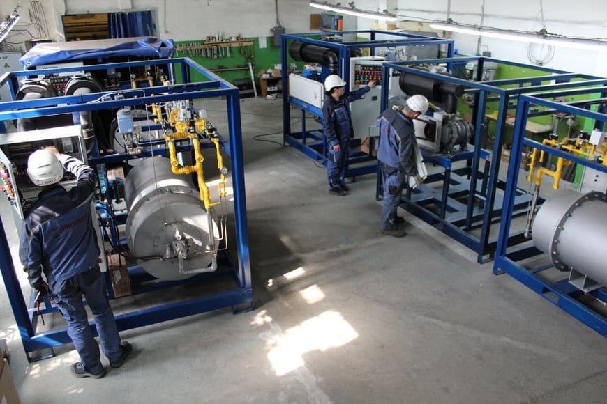 Электронезависимый промышленный парогенератор