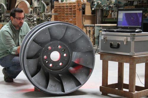 3D-сканирование колеса гидротурбины для последующего обратного проектирования