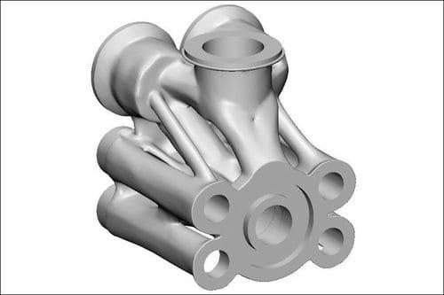 Финальный CAD-файл блока клапанов, готовый к 3D-печати