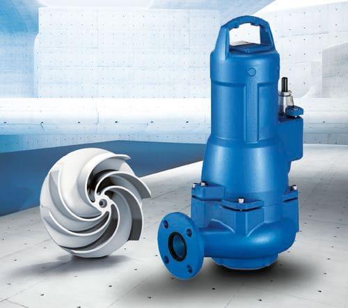 Погружной канализационный насос Amarex KRT нового поколения с новым рабочим колесом F-max