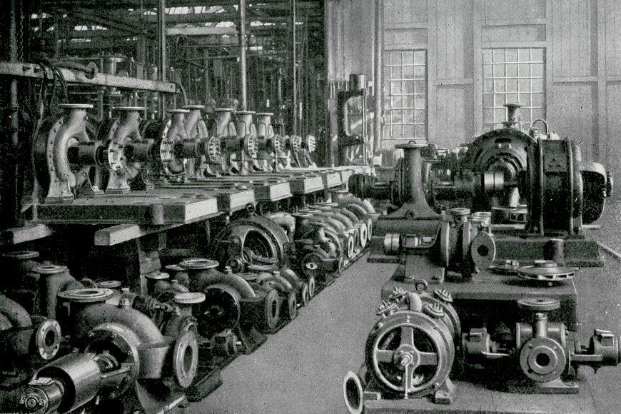 Специальный отдел центробежных насосов. 1903 год