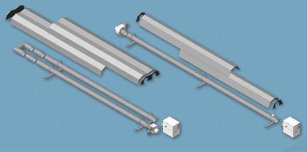 Газовые системы лучистого отопления. Образцы ИКНГ с U-образным и L-линейным излучателем