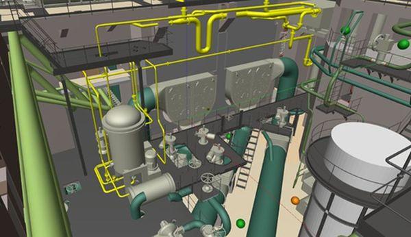 3D модель промышленного объекта