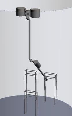 Понтонный скиммер с подвижной дренажной системой для резервуара с моноэтаноламином
