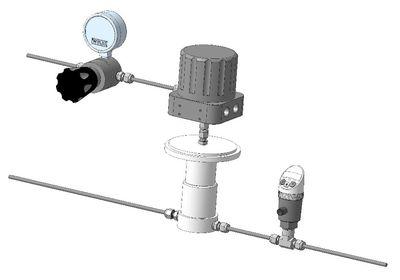 Автоматическая система регулирования давления Tescom ER5000 и датчик обратной связи Barksdale BPS3000