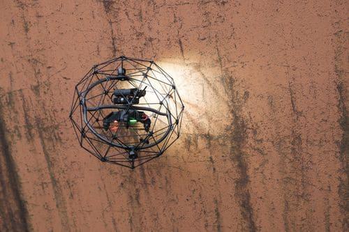 Противоударный дрон-робот для тепловизионного обследования труднодоступных и опасных объектов